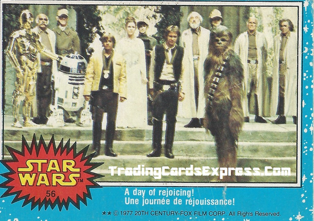 Star Wars - A Day Of Rejoicing - Card 56 - 1977 - Front Side