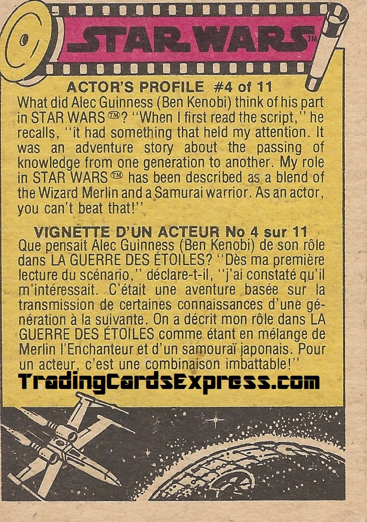 Star Wars - Chewie And Han Solo - Card 111 - 1977 - Back Side