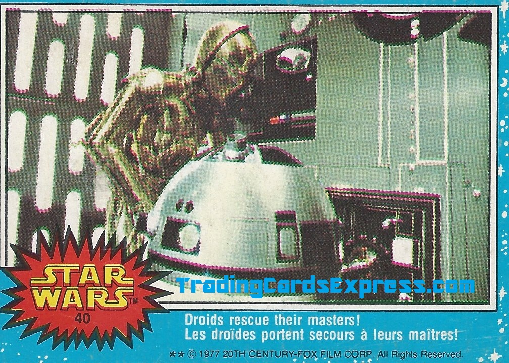 Star Wars - Droids Rescue Their Masters - Card 40 - 1977 - Front Side