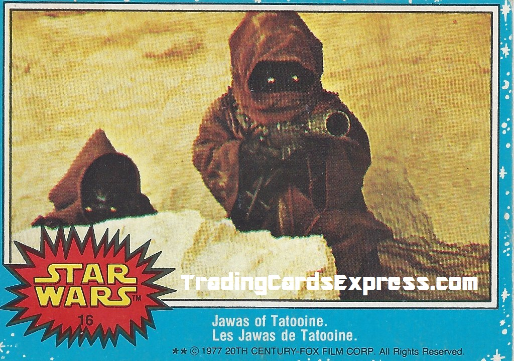 Star Wars - Jawas Of Tatooine - Card 16 - 1977 - Front Side