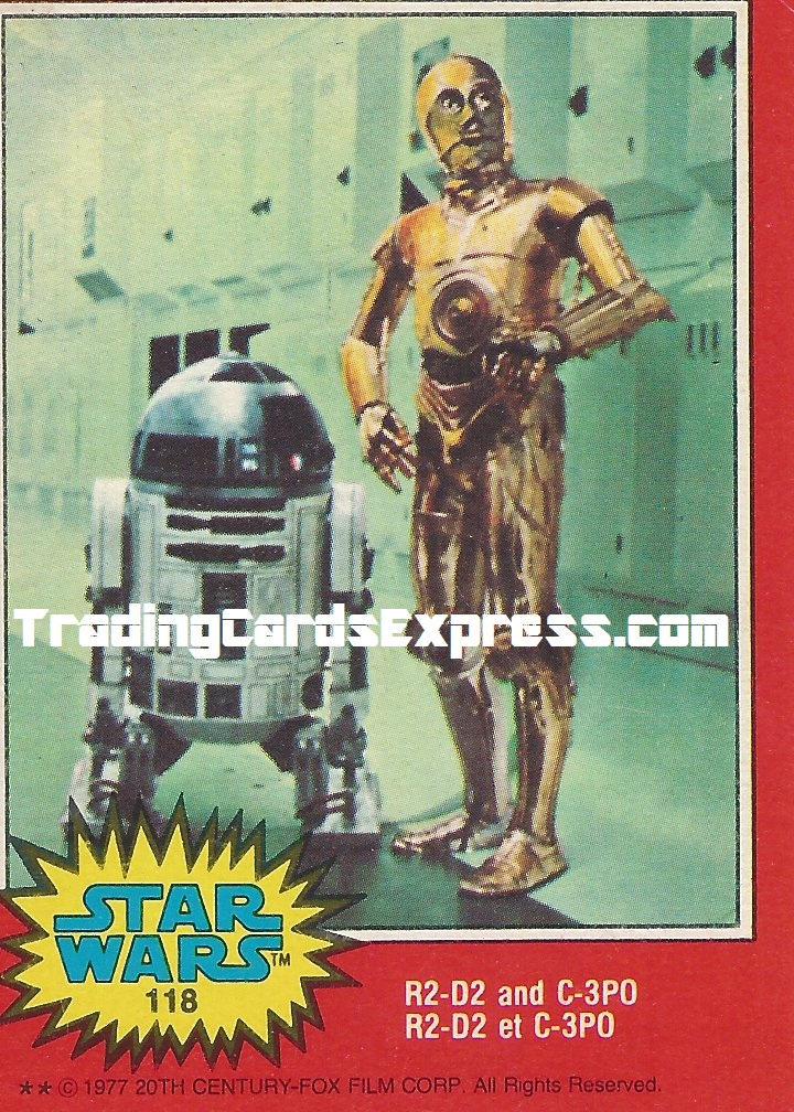 Star Wars R2-D2 And C-3PO - Card 118 - 1977