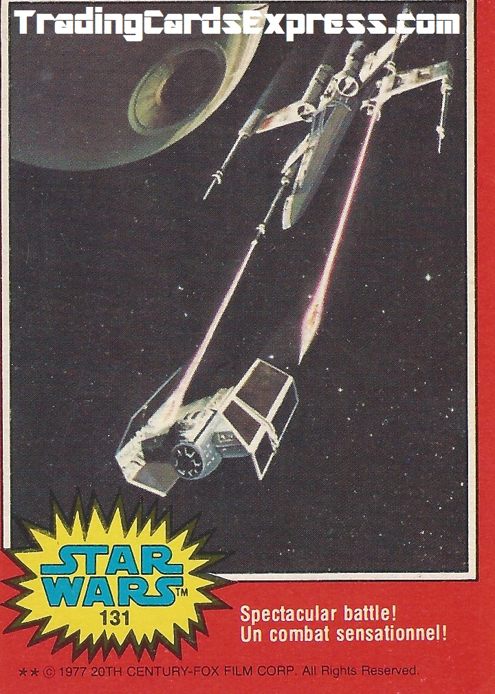 Star Wars Spectacular Battle Card 131 - 1977 - Front Side