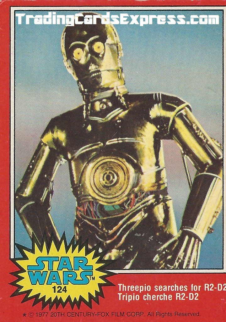 Star Wars - Threepio Searches For R2-D2 - Card 124 - 1977 - Front Side