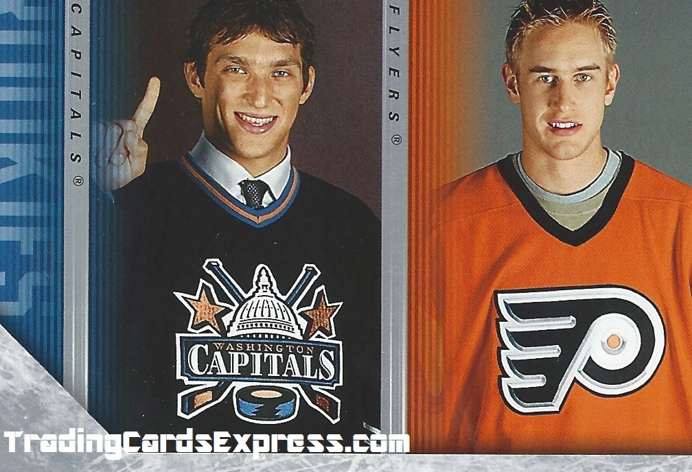 Alexander Ovechkin - Jeff Carter -  Card 487 - UD Series 2 - Checklist - 2005 - 2006 - Front Side