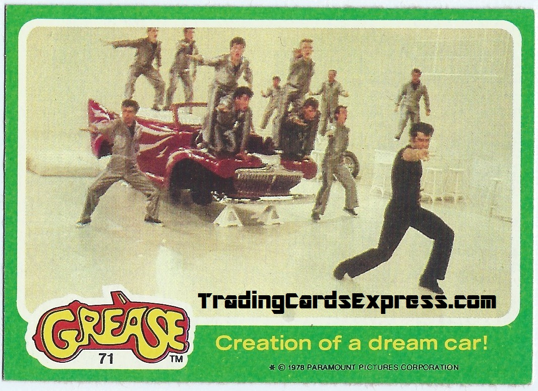 Grease - Creation Of A Dream Car - Card 71 - 1978 - Front Side