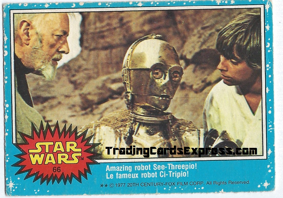 Star Wars - Amazing Robot See-Treepio - Card 66 - 1977 - Front Side