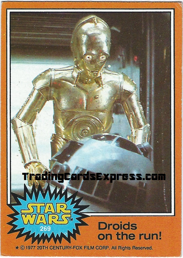 Star Wars - Droids On The Run - Card 269 - 1977 - Front Side