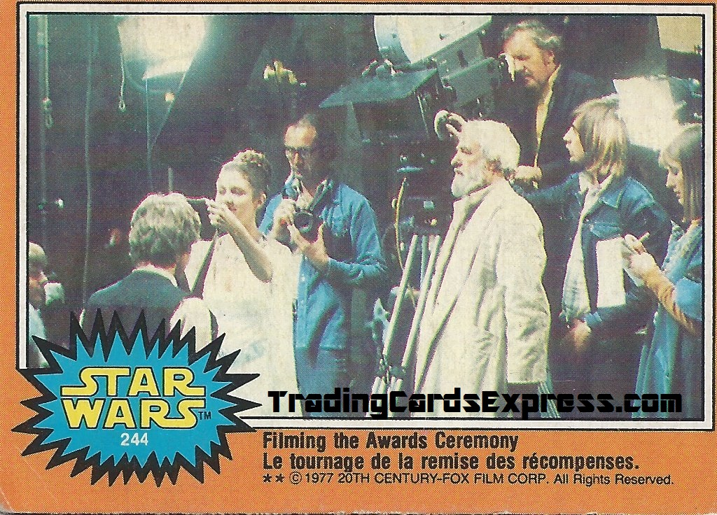 Star Wars - Filming The Awards Ceremony - Card 244 - 1977 - Front Side