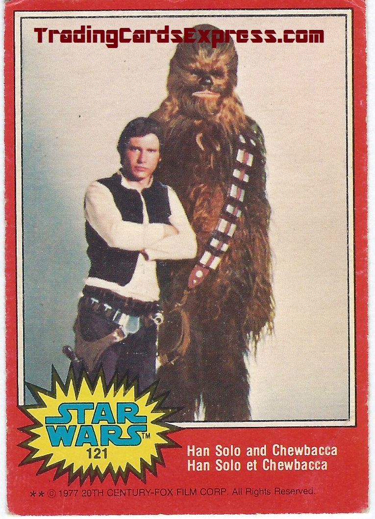 Star Wars - Han Solo And Chewbacca - Card 121 - 1977 - Front Side