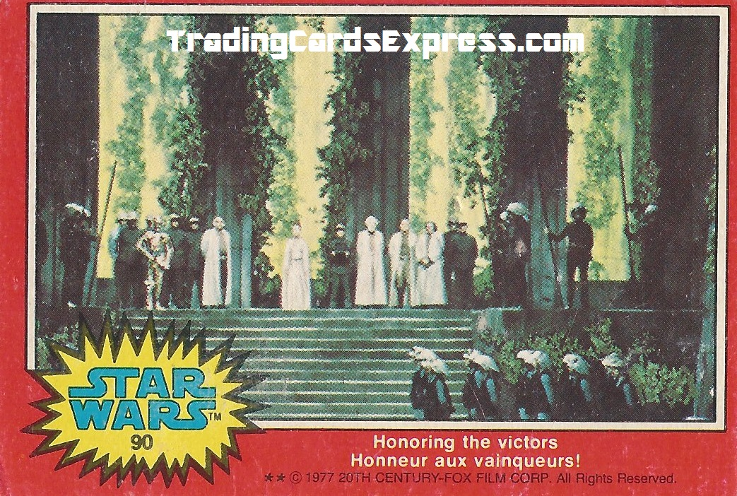 Star Wars - Honoring The Victors - Card 90 - 1977 - Front Side