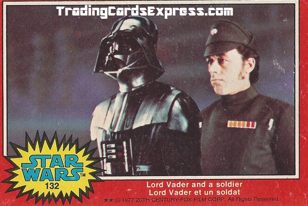 Star Wars - Lord Vader And A Soldier - Card 132 - 1977 - Front Side