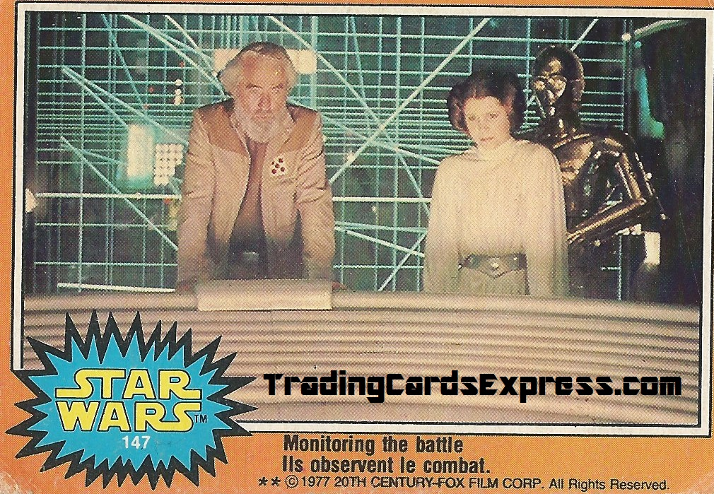 Star Wars - Monitoring The Battle - Card 147 - 1977 - Front Side