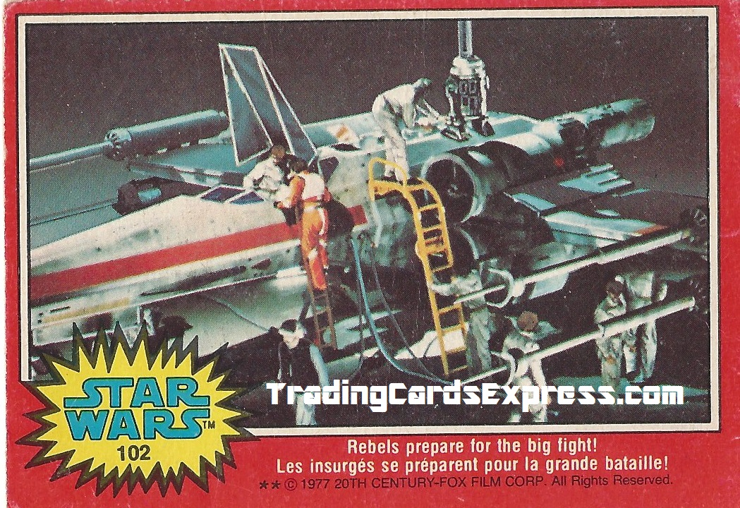 Star Wars - Rebels Prepare For The Big Fight - Card 102 - 1977 - Front Side