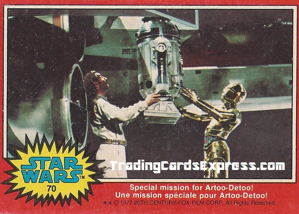 Star Wars - Special Mission For Artoo-Detoo - Card 70 - 1977 - Front Side