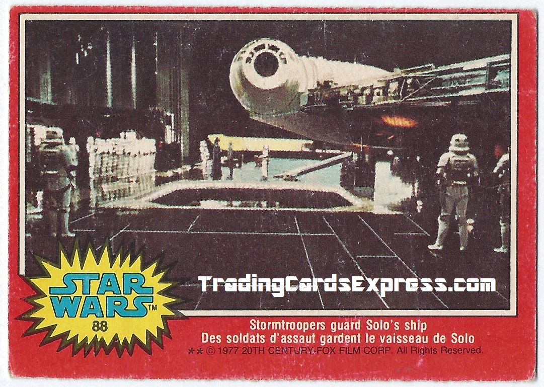 Star Wars - Stormtroopers Guard Solos Ship - Card 88 - 1977 - Front Side