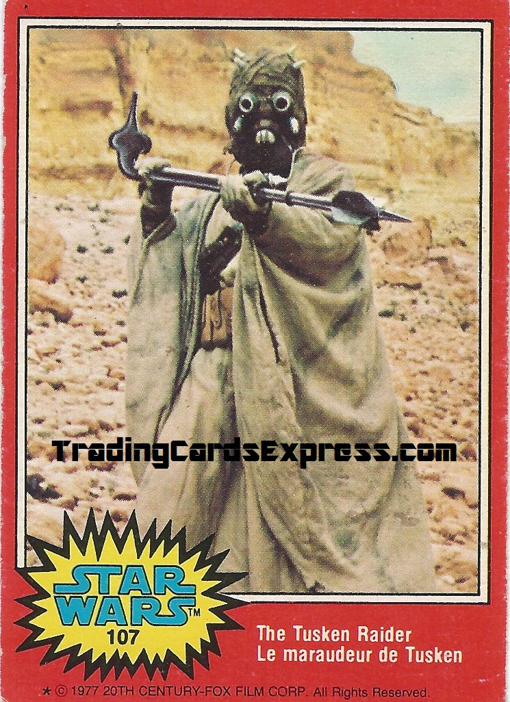 Star Wars - The Tusken Raider - Card 107 - 1977 - Front Side