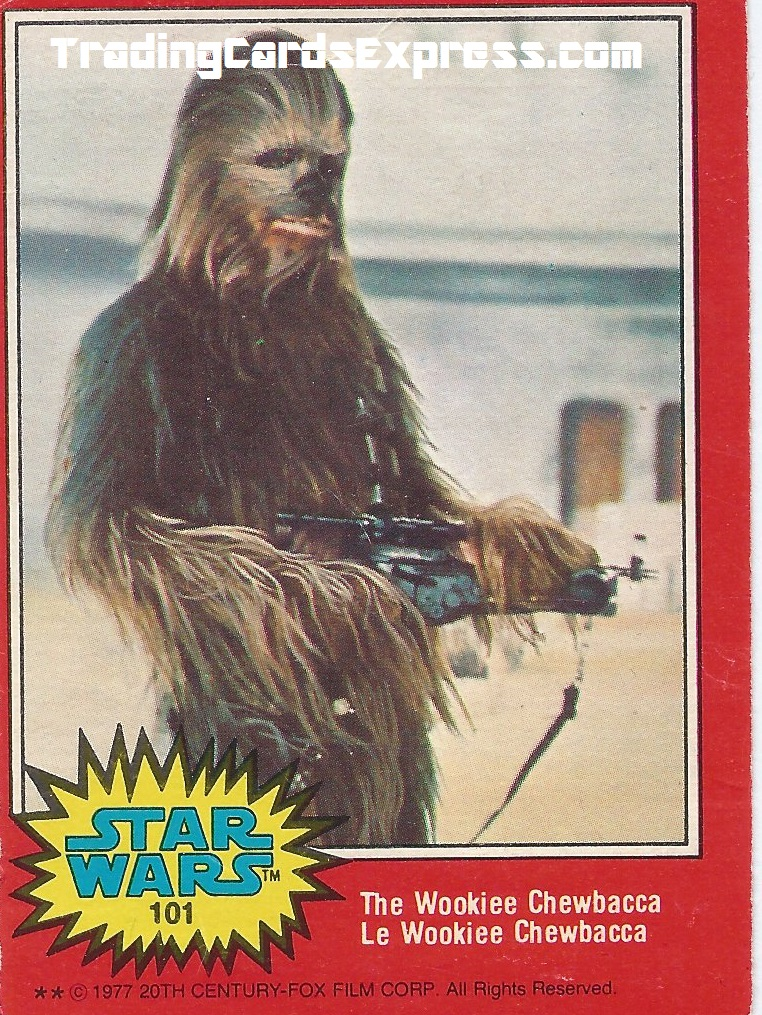 Star Wars - The Wookiee Chewbacca - Card 101 - 1977 - Front Side
