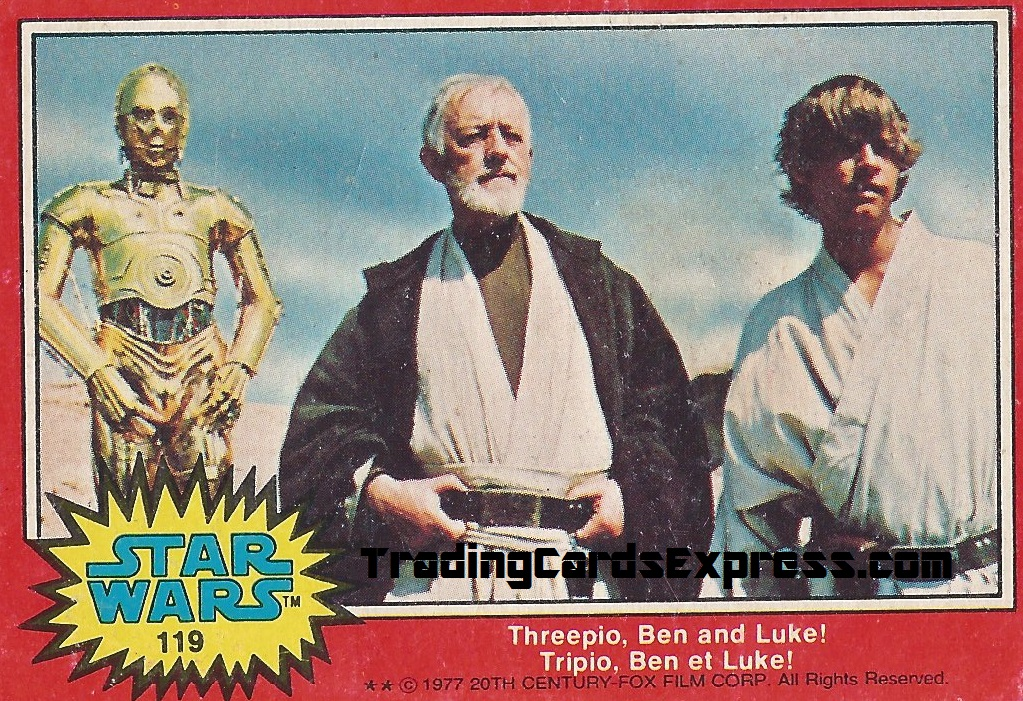 Star Wars - Threepio, Ben And Luke - Card 119 - 1977 - Front Side