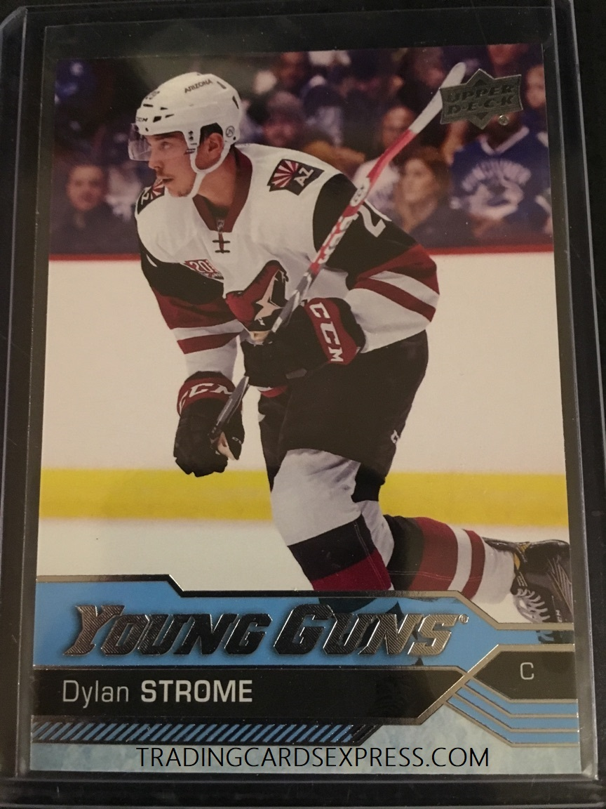 Dylan Strome Coyotes 2016 2017 Upper Deck Young Guns Rookie Card 498
