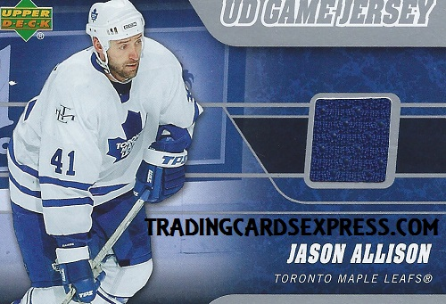 Jason Allison - Card J-AL - UD Series 1 - 2006-2007 - Front