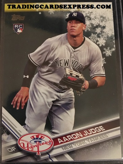 Aaron Judge Yankees 2017 Topps Walmart Holiday Rookie Card HMW99 Front Side