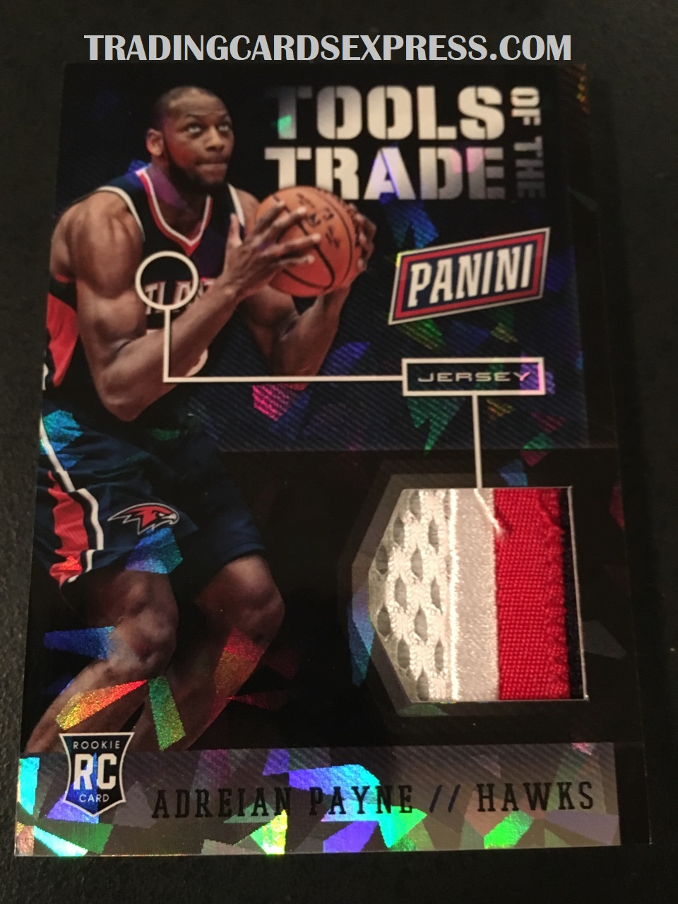 Adreian Payne Hawks 2014 Panini Boxing Day Tools Of The Trade Jersey Card 9