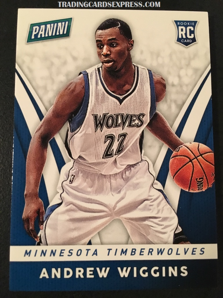 Andrew Wiggins Timberwolves 2014 Panini Boxing Day Rookie Card 27