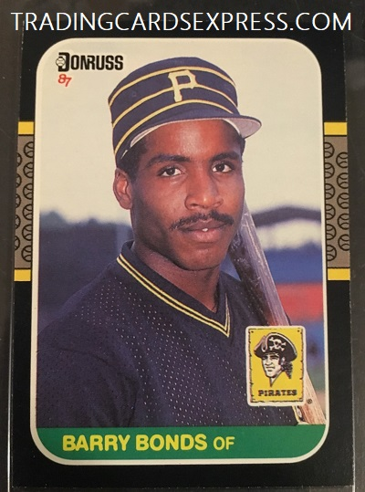 Barry Bonds Pirates 1987 Donruss Rookie Card 361 Front Side