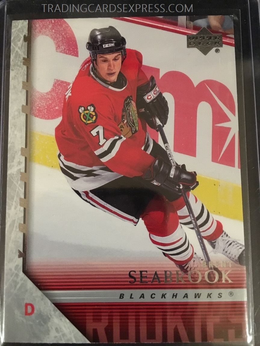 Brent Seabrook Blackhawks 2005 2006 Upper Deck Young Guns Rookie Card 209