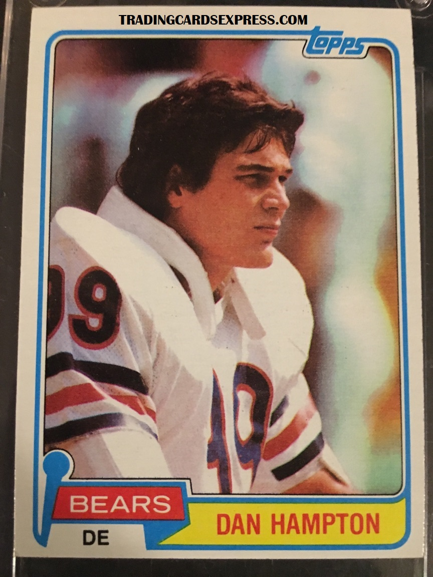 Dan Hampton Bears 1981 Topps Rookie Card 316