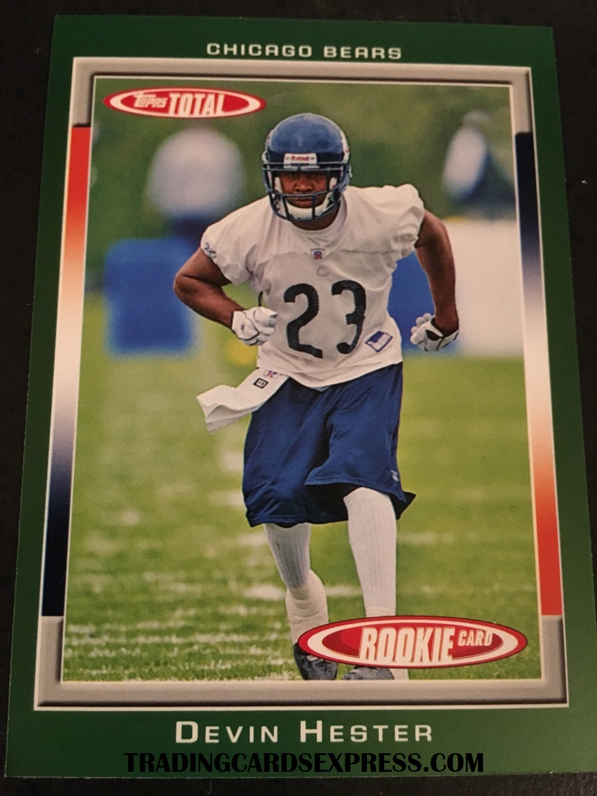 Devin Hester Bears 2006 Topps Total Rookie Card 448