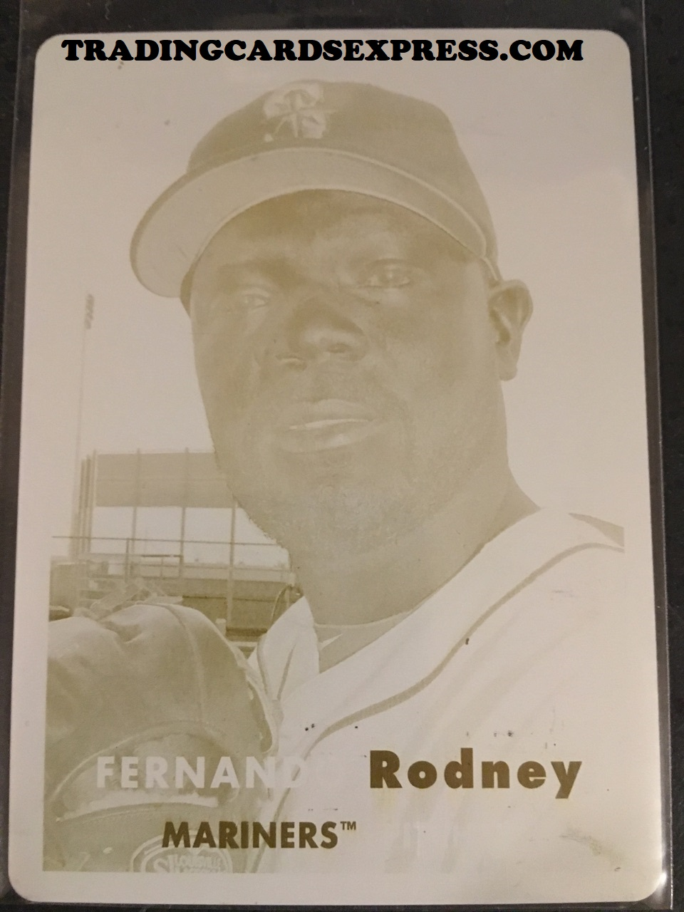 Fernando Rodney Mariners 2015 Topps Archives Yellow Printing Plate 40 1/1