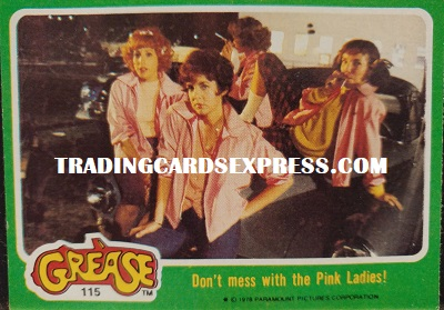 Grease Card 15 Don't Mess With The Pink Ladies Front