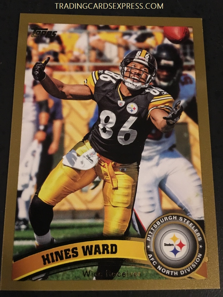 Hines Ward Steelers 2011 Topps Gold Card 131 0360 2011