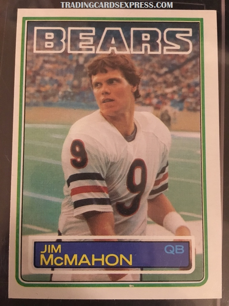 Jim McMahon Bears 1983 Topps Rookie Card 33