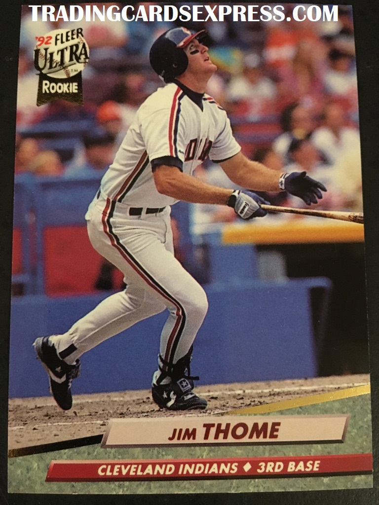 Jim Thome Indians 1992 Fleer Ultra Rookie Card 54