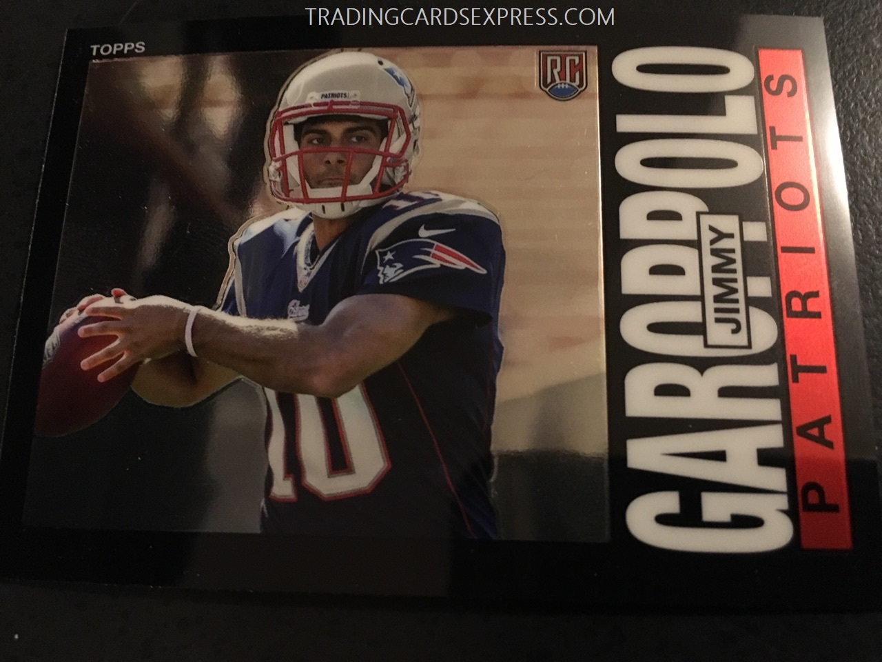 Jimmy Garoppolo Patriots 2014 Topps Chrome 1985 Rookie Card 3