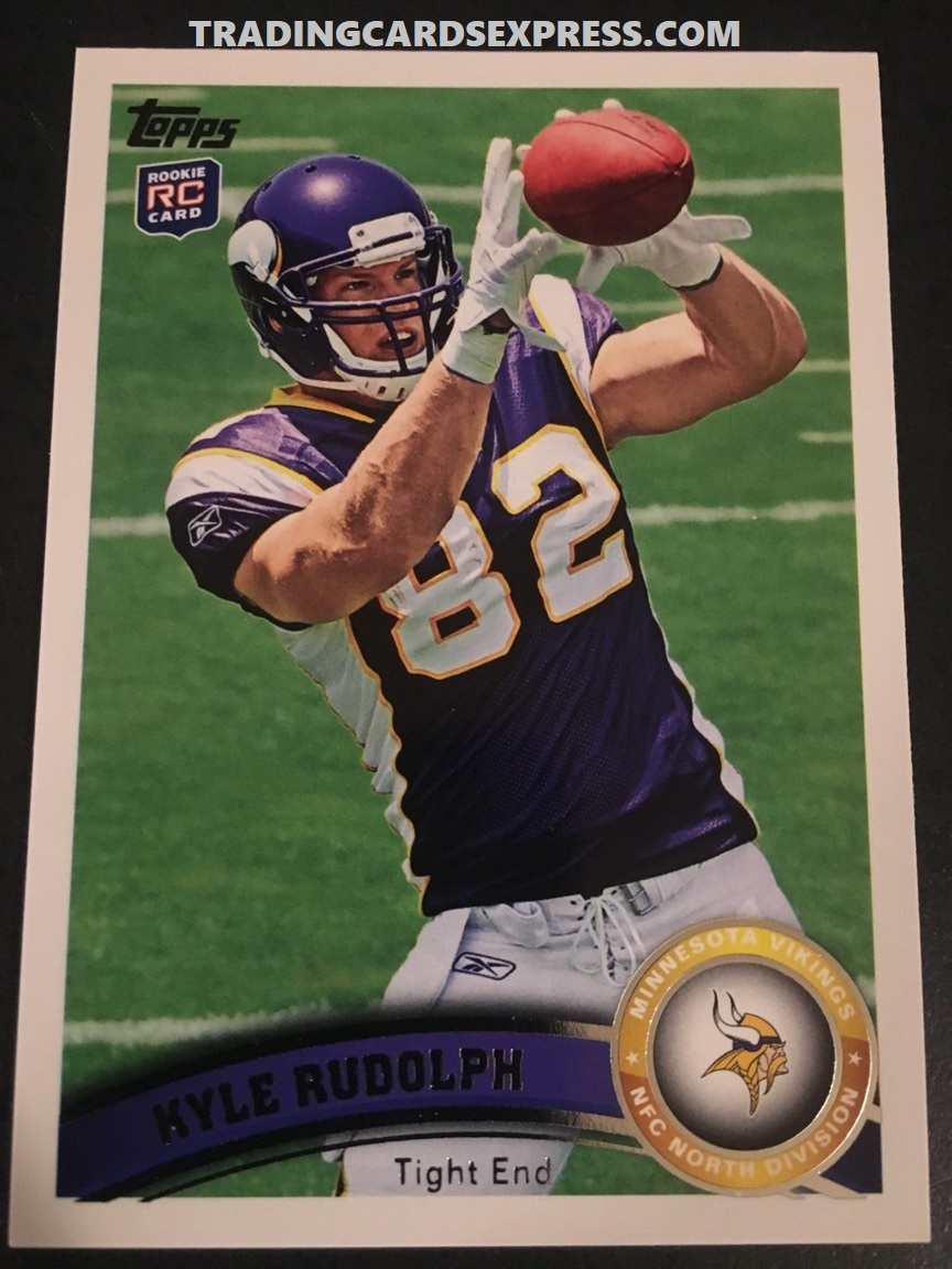 Kyle Rudolph Vikings 2011 Topps Rookie Card 6