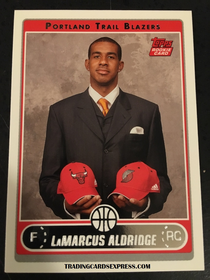LaMarcus Aldridge Trail Blazers 2006 Topps Rookie Card 241