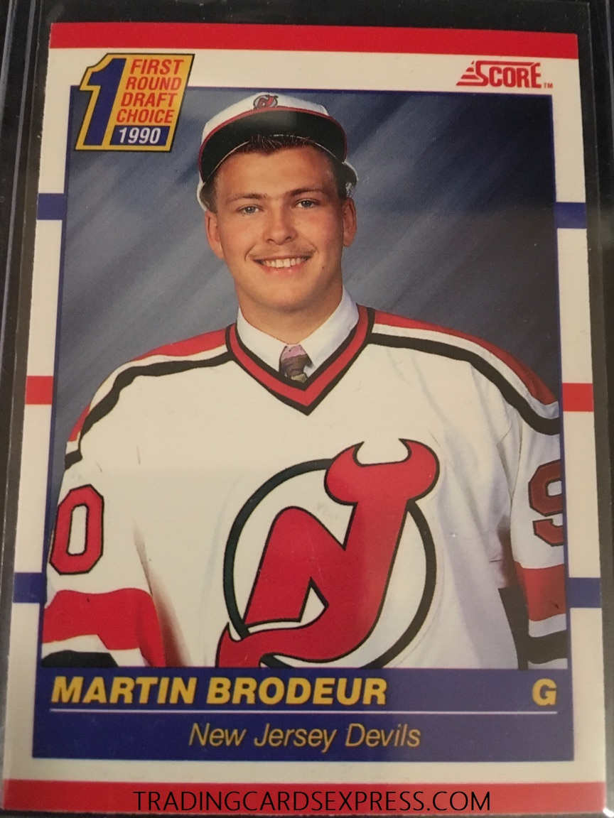 Martin Brodeur Devils 1990 Score Rookie Card 439 Trading Cards Express