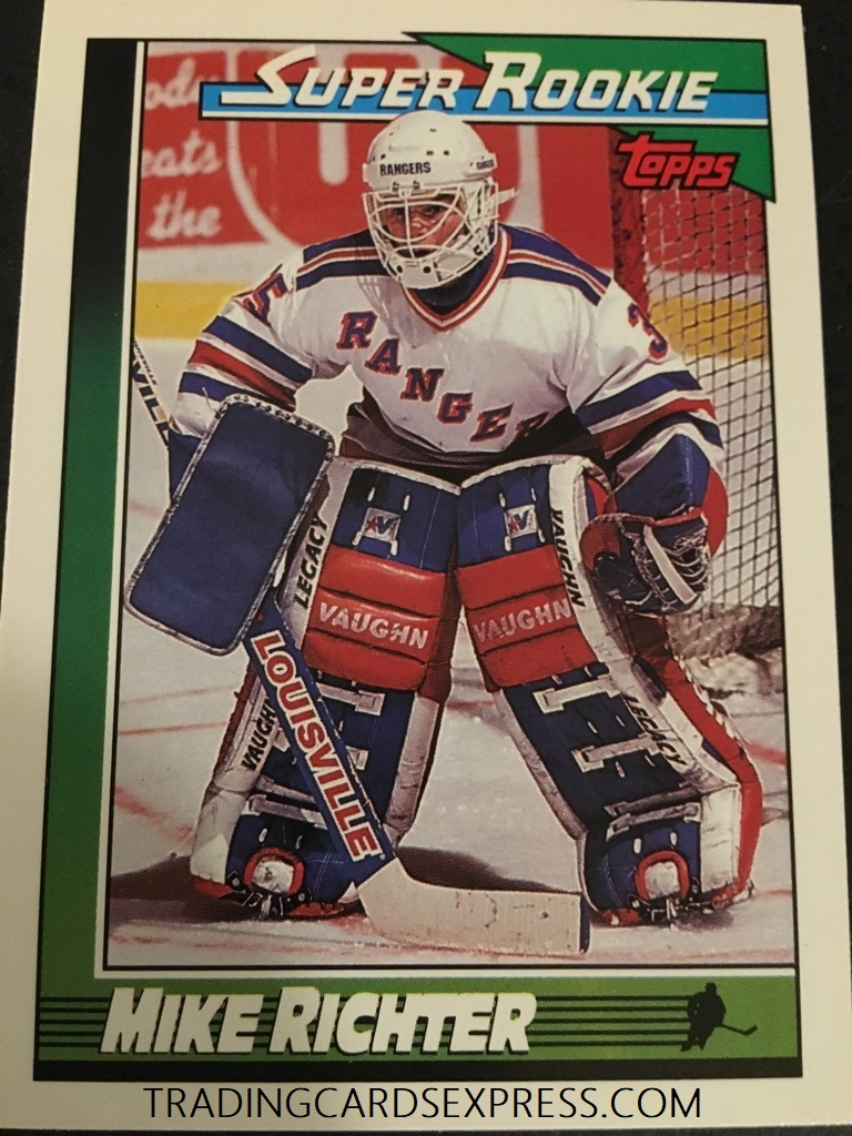 Mike Richter Rangers 1990 1991 Topps Super Rookie Card 11