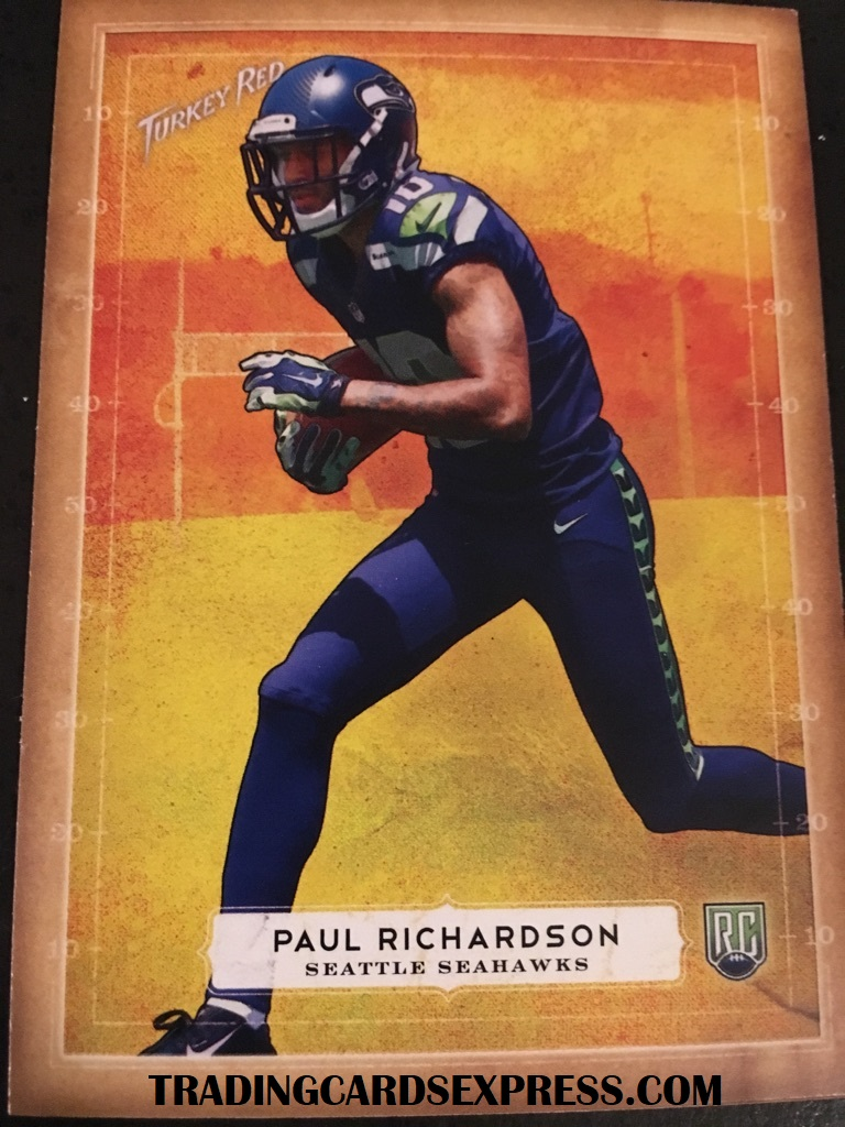 Paul Richardson Seahawks 2014 Topps Turkey Red Rookie Card 39