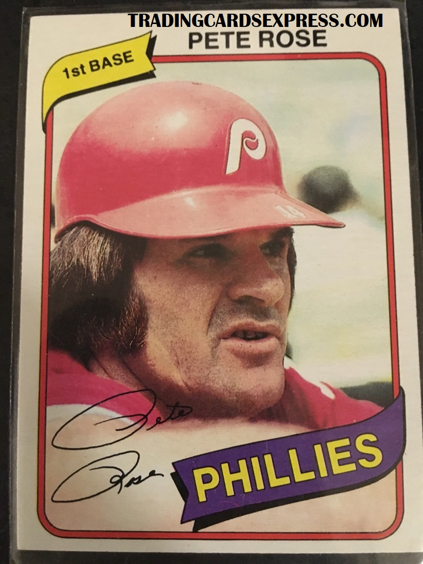 Pete Rose Phillies 1980 Topps 540