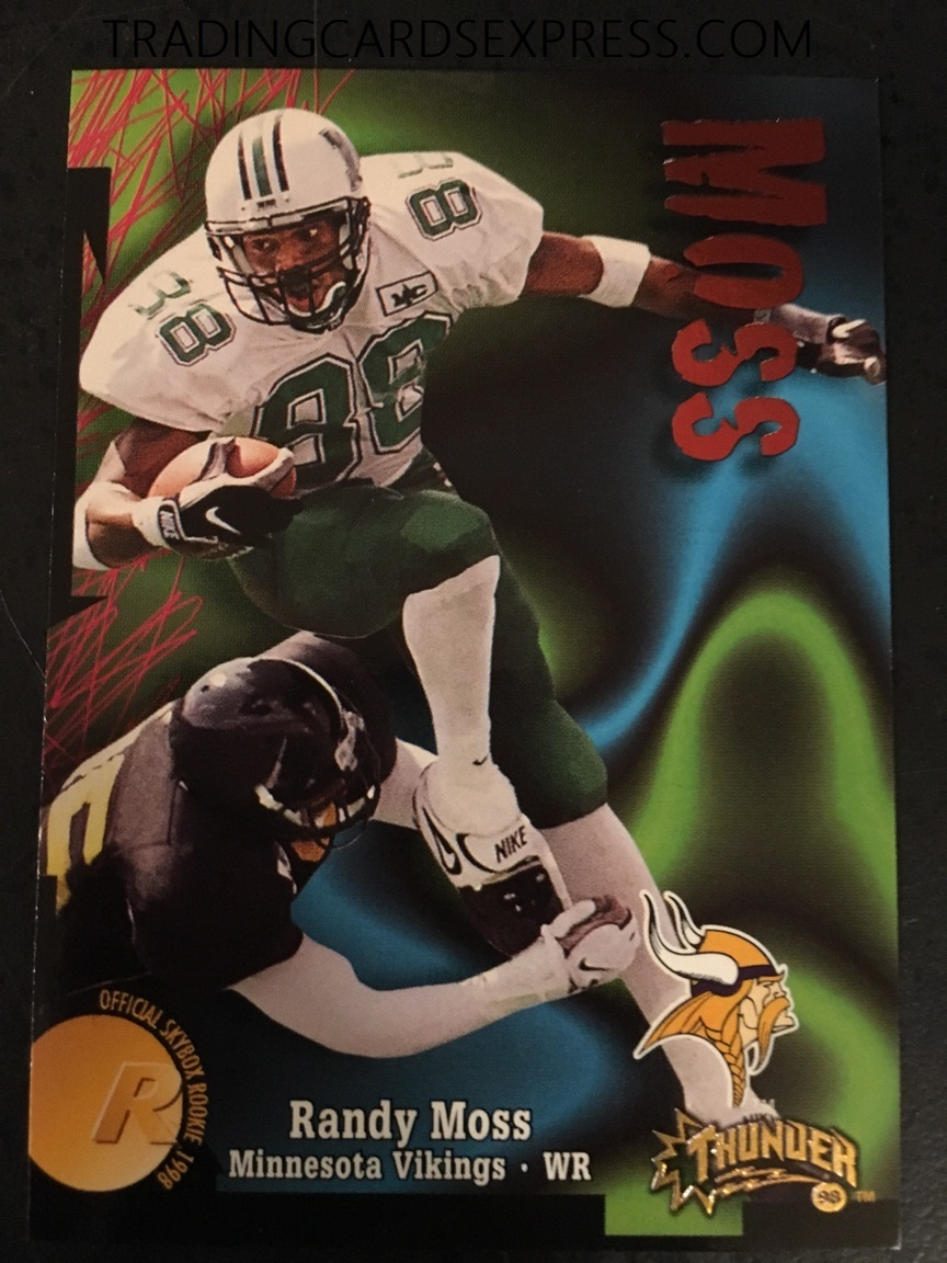 Randy Moss 1998 Skybox Thunder Rookie Card 242 Trading