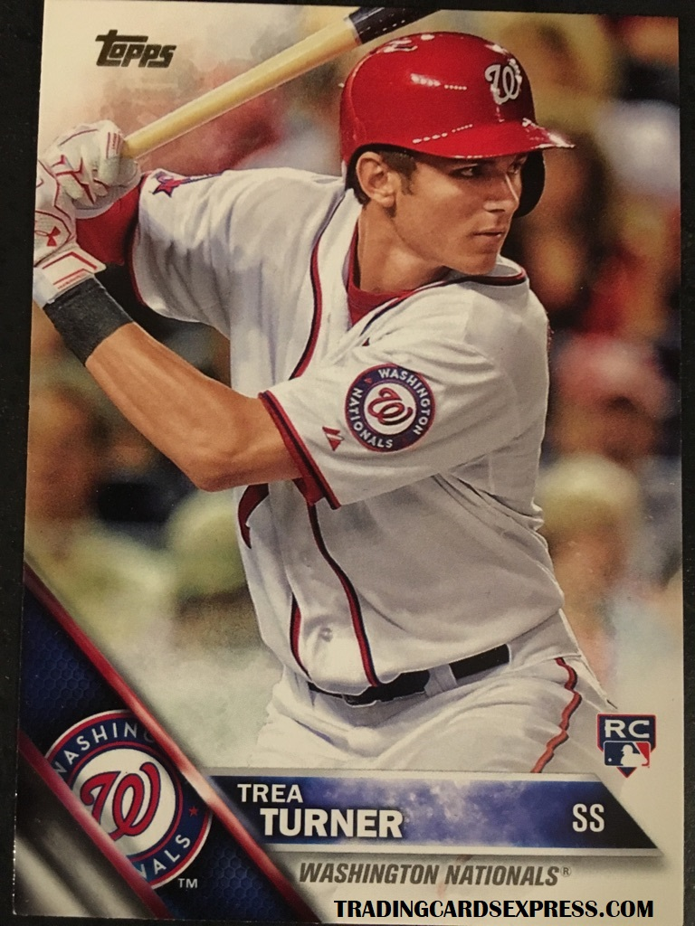 Trea Turner Nationals 2016 Topps Series 1 Rookie Card 103