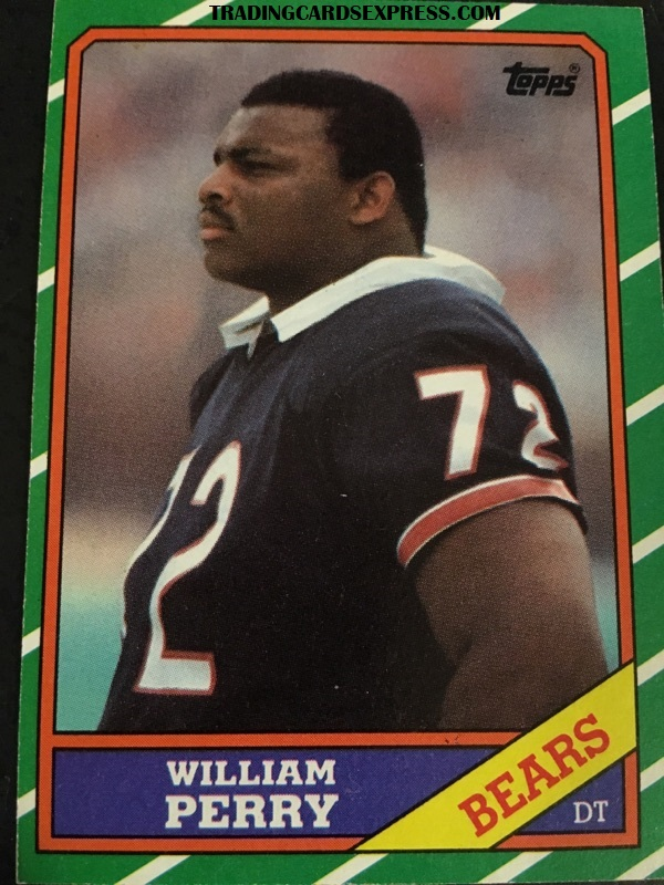 William Perry Bears 1986 Topps Rookie Card 20