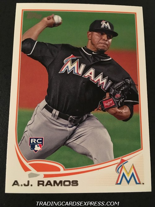 A.J. Ramos Marlins 2013 Topps Rookie Card 175 Front