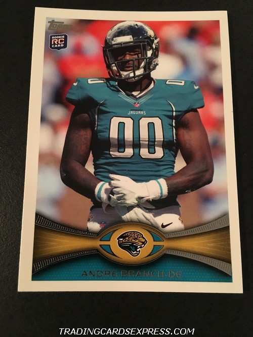 Andre Branch Jaguars 2012 Topps Rookie Card 362 Front