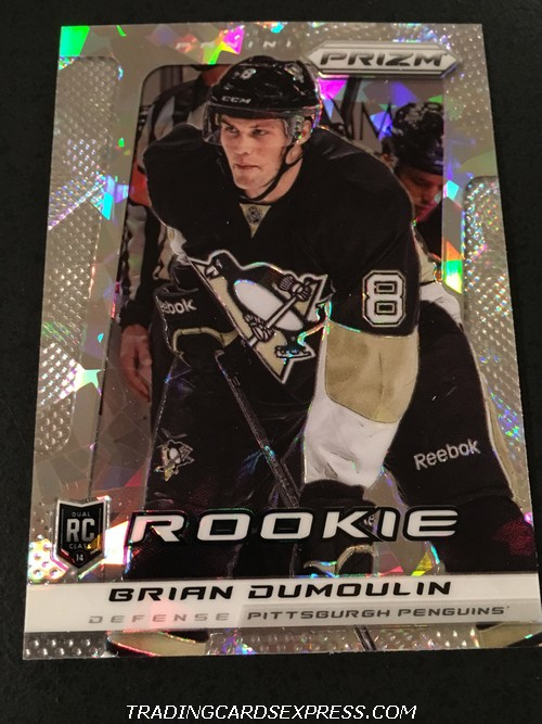 Brian Dumoulin Penguins 2013 2014 Panini Prizm Cracked Ice Rookie Card 380 Front