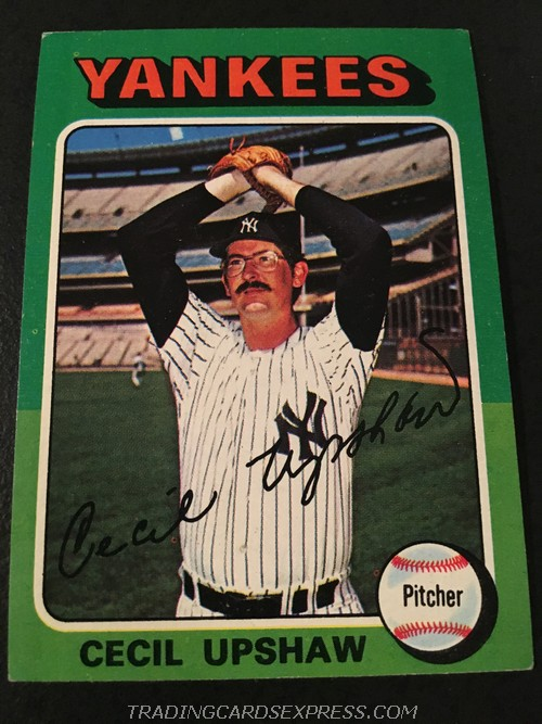 Cecil Upshaw Yankees 1975 Topps Mini 92 Front